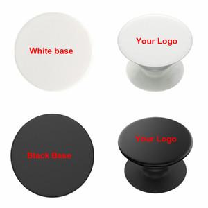 DIY Bildnamen Logo Expanding Telefon-Standplatz Grip Finger Rring Unterstützung Anti-Fall-Runde faltbare Handy-Halter für iPhone 11 Pro Max