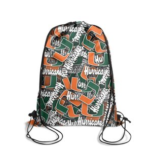 Miami Hurricanes football logo Fashion Sports Belt Backpack,Design Crazy Suitable For Luxury Football White Christmas Green Orange and