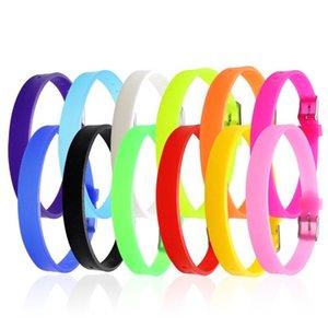 2020 pulsera de goma populares niñas y niños ajustables favorita de silicona de colores del arco iris dulce al por mayor de 50PCS pulsera