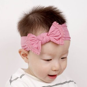 Children's headdress baby fashion jewelry American hot sale explosion-proof nylon headband rim ball ball hair ornament bow WY1362