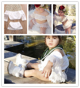 Baby Cute Skirt 2 Pcs Sets Fashion Girls Outfits Lace Sleeved Blouses Tops+Short Skirt Two-pieces Tracksuit Summer Lovely Girl Skirt E22501