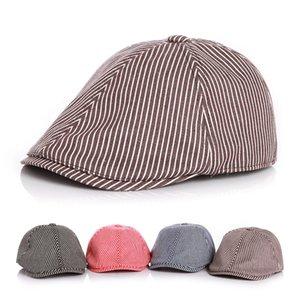 Striped Kids Caps Cotton Boys Girls Beret Hat Toddler Sun Cap Pet Supplies Home Garden