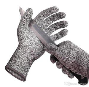 Livello guanto caldo prcotection sicurezza 5 guanti antitaglio HPPE guanto antitaglio Pu-proof acciaio tagliato tuffato filo macellazione guanti sicuri