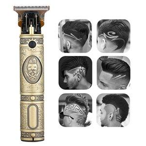 Плешивый Машинка для стрижки волос Масло Глава Аккумуляторный триммер Тяжелая горькое Cordless Мужчины 0mm волос для резки Pricesion Клипперс