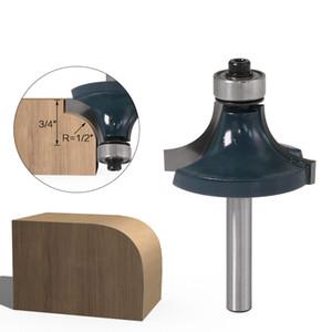 6mm 1 espiga / 4 pulgadas de madera Bit Redondos rebordear ribete Router Router bits extremo recto Herramientas de corte molino de corte de la madera Potencia