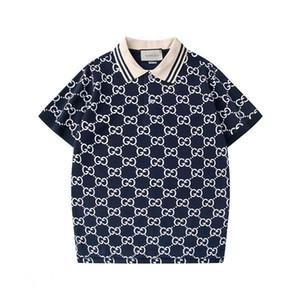 designer de moda masculina de luxo Polo T-shirt cucci verão de manga curta de lapela manga curta camisa Polo marca camisa da forma camisa Medusa Polo