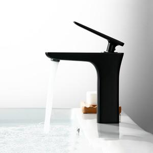 Матовый черный Palted ванной бассейна кран латунный высокого качества Туалет Мода Дизайн воды Смеситель Смесители Одной ручкой Deck Mount