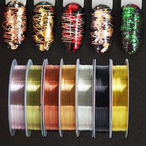 7 Дизайн ногтей Золото Серебро наклейки Чередование ленты Линия Rolls Декор Tools0.2mm 0.3mm ногтей наклейки DIY красоты аксессуары LE1583