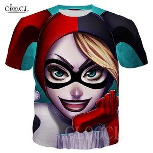 Птицы Prey кино Футболка Harley Quinn Клоун Повседневного крупноформатных Tee Пуловер 3D Печать Лето Коротких рукава футболки для мужчин женщин