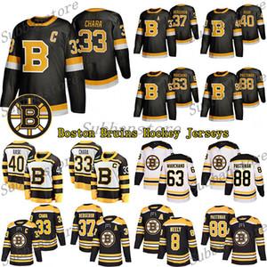 Boston Bruins hockey Jerseys 33 Zdeno Chara 88 David Pastrňák 74 Jake DeBrusk 37 Patrice Bergeron 40 Tuukka Rask 63 Brad Marchand