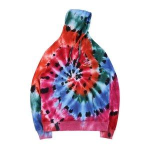 Mens Designer Hoodies Travis Scott Astroworld Merch Europe Tour TS Tie-dye Skull Skeleton High Street Fashion Brand Hoodie Loose Sweatshirt