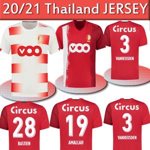 Standard Liège 20 21 Jerseys de football Accueil Liege Vanheusden Laifis Bastien Amlalah Cimirot 2020 2021 Jersey Football Shirts Thaïlande