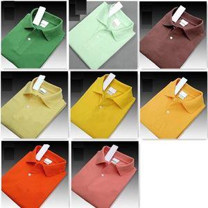 새로운 2019 여름 남성 럭셔리 최고 품질 브랜드 악어 자수 폴로 셔츠 반소매 쿨 코튼 슬림 맞는 캐주얼 비즈니스 남성 셔츠 r