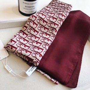2020 da marca cachecol de luxo famosa senhora monograma designer de lenço de alta qualidade 100% o tamanho de seda longo cachecol 180x90cm nova