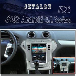 "10.4"" de pantalla vertical Radio de Mondeo 2007-2010 Plata GPS bluetooth navegación Seis Core Android 8.1 multimedias del coche DVD del coche"