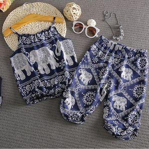 Toddler Baby Girls Kids Conjuntos de ropa de algodón sin mangas Tops de verano Chalecos largos Sin mangas Trajes 2pcs