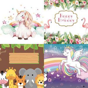 Unicorn Desen Arka Plan Bez Fotoğraf Stüdyosu Kullanım Backdrop Giyim Doğum Günü Partileri Arka Planında Süslemeleri Makaleler Sıcak Satış 12 51yz L1
