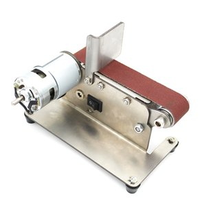 Ceinture horizontale Sander Grander Mini électrique bande abrasive Sander multifonctions Grinder bricolage polissage machine de meulage