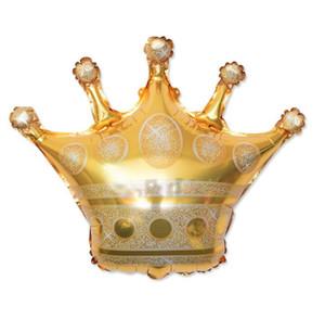 DHL 68 * 73 CM or couronne hélium ballon princesse couronne feuille ballons pour joyeux anniversaire noce bébé décoration n1