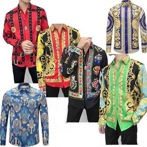 Men's Medusa Shirt 2020 France High Street Fashion Harajuku Casual Shirt Men Black Gold tiger leopard Fancy Slim Fit Shirts