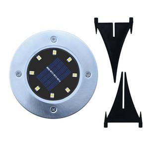 Solar Powered Ground Light 8 LED Paisagem Lawn Lamp Início Jardim Ao Ar Livre Escadas de Estrada PIR Sensor Térreo Luz ZZA457