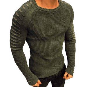 Sweater Men 2020 New Casual Slim Pullover Autumn Round Neck Knitted Striped Patchwork Winter Warm Brand Classic Sweater