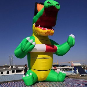 5m Alta gigante libero modello in piedi coccodrillo gonfiabile pop-up del fumetto del bambino per la Turchia Party Hotel