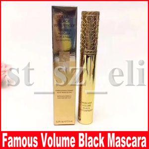 Известный макияж глаз тушь объем черный водонепроницаемый волокна ресницы роскошная тушь для накладных ресниц эффект