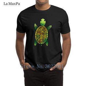 Существо Формальная T-Shirt Окрашенные Акварели Turtle Мужская футболка Фирменные весна Tee Shirt Популярные Большие размеры Tshirt Anti-Wrinkle