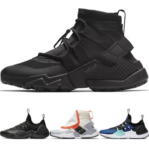Nouveau Huarache E.D.G.E TXT QS Chaussures De Course Femme EDGE AS Triple Noir Blanc Baskets De Sport HUARACHE Gripp Acronym High Shoes