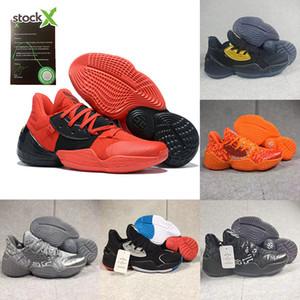 새로운 도착 남성 제임스하든 4 개 4 권 4S IV MVP BHM 블랙 남자 농구 신발 야외 스포츠 교육 운동화 크기 미국 7-12