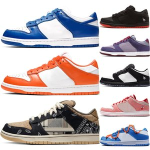 Gros 2020 Kentucky SB Dunk Low Chaussures pour hommes occasionnels femmes Syracuse Styliste Panda Pigeon Formateurs Sport Chaussures