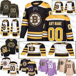2019 invierno Bruins de Boston de los hombres clásicos de encargo cualquier nombre cualquier número de hockey sobre hielo Jersey, Jersey auténtica Tamaño del bordado del logotipo S-3XL