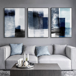 Modern Abstract Canvas Painting Wall Art Prints Minimalist Blue Graffiti Poster Decorative Pictures for living Room Nordic Decor