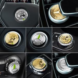 A B C E Clase W204 W205 W213 W212 GLC CLA GLA Cubierta de estrella del motor Botón del pomo del volante Amg Manzana Etiqueta de adorno interior