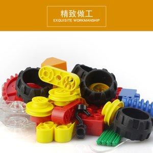 33pcs Assemble children's creative toys big particles DIY mechanical building blocks turbine small crane for boys kids magination