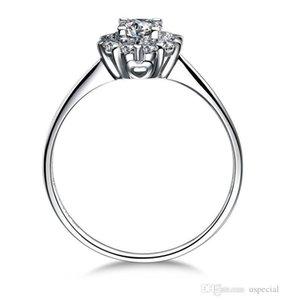 USpecial% 100 925 silversterling gümüş kadınlar için 14k beyaz altın kaplama 1CT Prenses kesim SONA Simüle Pırlanta nişan yüzükleri ince Gümüş