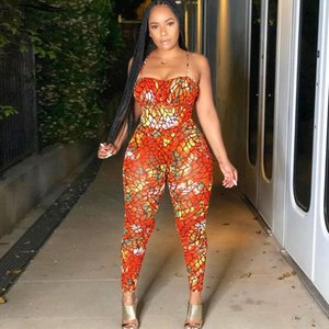 Bonnie Forest Sexy Print Skinny Long Pant Jumpsuits Women Colorful Strap Party Overalls Bodycon Fashion 2020 Jumpsuit T200704
