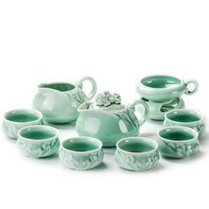 China Porzellantassen Keramik Tea Set Kung Fu Topf Infuser Gaiwan Teekanne Serving Cup Teacup Chinese Trinkgefäße High Quality
