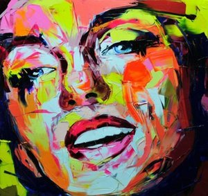 Francoise Nielly Palette Knife Impression Home Decor Artworks Modern Portrait Handmade Oil Painting Canvas Concave and Convex Texture F1069