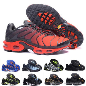 Nike Air Max TN Plus Venta al por mayor 2019 Zapatillas de deporte originales para hombre TN AIR SHOes Ventas TOP Quality Cheap France BASKET TN ReQUIN ChauSSures Tamaño 40-46 C13