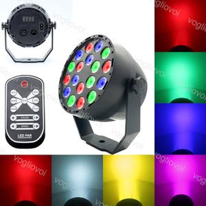 Par Light RGB 18W 18LÉS AVEC MULTICOLORE EFFECTION MAGIQUE Contrôle du son pour l'éclairage de scène DJ Club Parti de famille Disco DHL