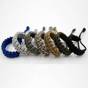 1 PC Adjustable Survival Emergency 550 Paracord Bracelet Cord Bracelet Cord For Camping Hiking Outdoor Accessories