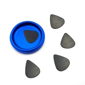 Triangle Black Plastic Pollines Pollines per erbe Grinder ABS Polline Phovel per chitarra Tabacco Pick Accessori per fumo