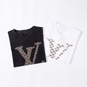 Italian fashion men's T-shirt short-sleeved Medusa embroidery applique cotton T-shirt Harajuku casual men's T-shirt M-3XL