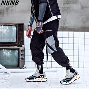 2019 Pockets Cargo Harem Pants Mens Casual Joggers Baggy Tactical Trousers Harajuku Streetwear Hip Hop Fashion Swag