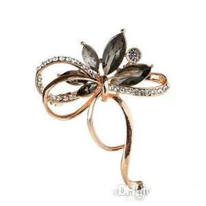 Beste Qualität Goldschmetterlings-Broschen Luxus-Diamant-Bogen Broschen Kristall Damen Designer Broschen Mode Anzug Zubehör Letzte