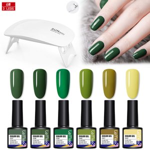 LEMOOC Nail Gel Polish Set Soak Off UV Gel With UV LED Curing Lamp Nail Dryer Manicuring Tools Base Top Coat Varnish