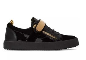 2019 Nueva marca de diseño Low Top Zapatos casuales Zapatillas de deporte para hombres Pisos de cuero para mujer Comodidad Bastante Extremadamente duraderos Zapatos de estabilidad