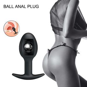 Anal Dildo Vibrator Built-in Activity Steel Ball Prostate Massager G Point Stimulator Anal Penis Vibrator Male Sex Toys**d SH190730